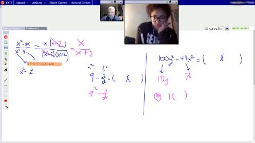 Online Tutoring Session Algebra 2